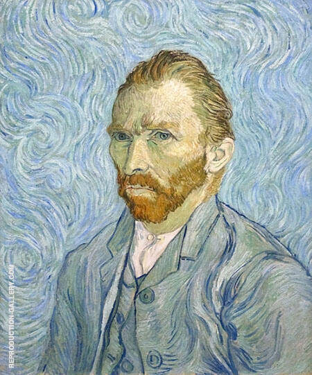 Reproduction of Self Portrait St Remy by Vincent van Gogh | Oil Painting Replica On CanvasReproduction Gallery