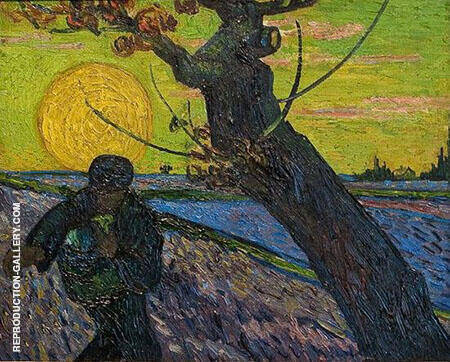The Sower Arles Painting By Vincent van Gogh - Reproduction Gallery