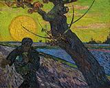 The Sower Arles By Vincent van Gogh