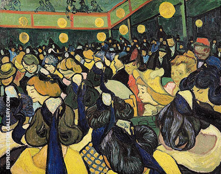 The Dance Hall in Arles By Vincent van Gogh Replica Paintings on Canvas - Reproduction Gallery
