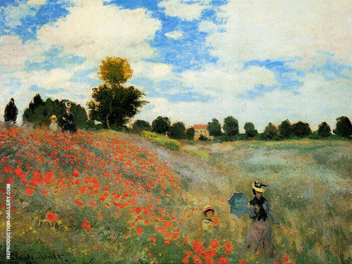 Poppies at Argenteuil 1873 Painting By Claude Monet - Reproduction Gallery