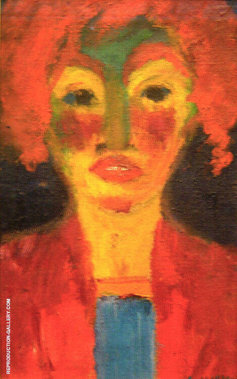 Red Haired Girl 1919 Painting By Emil Nolde - Reproduction Gallery