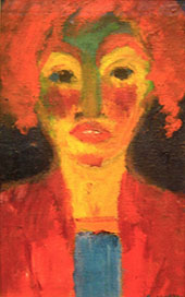 Red Haired Girl 1919 By Emil Nolde