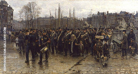 Transport of Colonial Soldiers c1883 By Isaac Israels