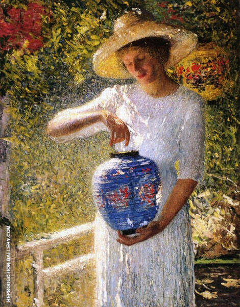 Girl with a Lantern Painting By Helen M Turner - Reproduction Gallery
