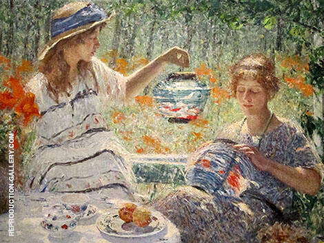 Lanterns, Lilies and Sunshine Painting By Helen M Turner