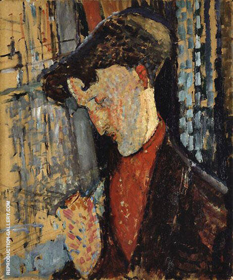 Portrait of the Painter Frank de Haviland Painting By Amedeo Modigliani