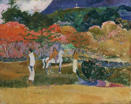 Women and a White Horse 1903 By Paul Gauguin