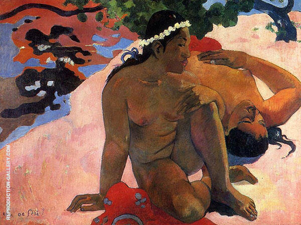 Are you Jealous 1892 Painting By Paul Gauguin - Reproduction Gallery