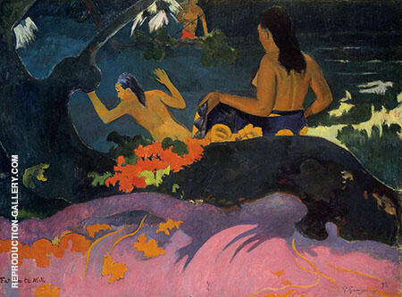 By the Sea Fatatate Miti 1892 By Paul Gauguin
