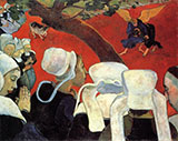 Jacob Wrestling The Angel The Vision After The Sermon By Paul Gauguin