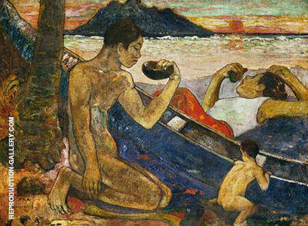 The Canoe Tahiti By Paul Gauguin