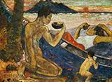 The Canoe Tahiti By Paul Gauguin