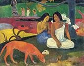 Arearea Joyousness 1892 By Paul Gauguin
