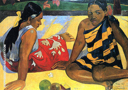 Parau Api What's news? 1892 By Paul Gauguin