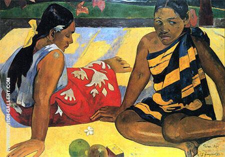 Parau Api What's news? 1892 By Paul Gauguin