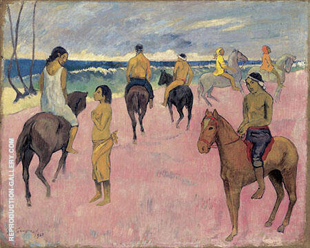 Riders on the Beach II 1902 By Paul Gauguin