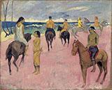 Riders on the Beach II 1902 By Paul Gauguin