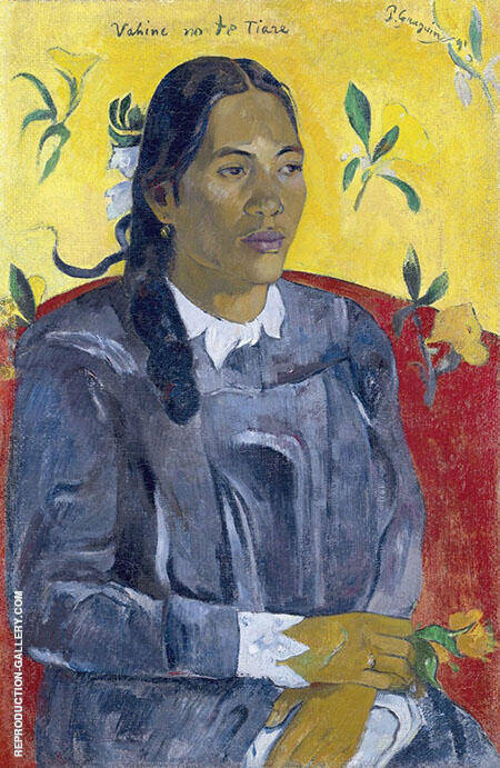 Woman with a Flower 1891 By Paul Gauguin