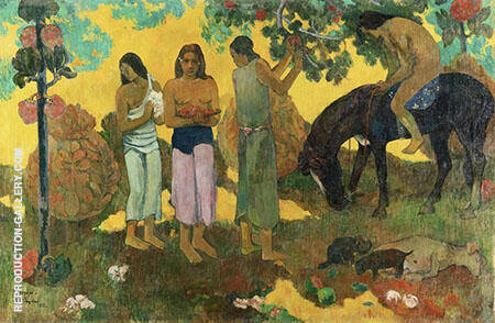 In Olden Times Matamua 1892 By Paul Gauguin