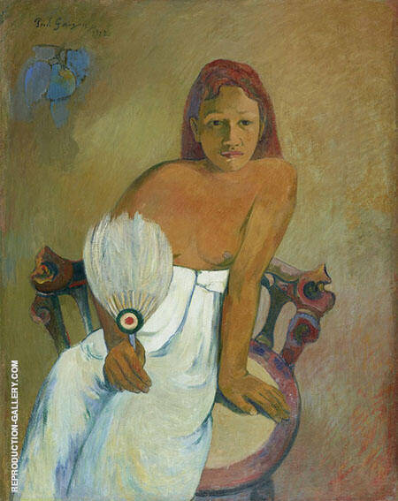 Woman with a Fan 1902 By Paul Gauguin