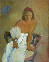 Woman with a Fan 1902 By Paul Gauguin