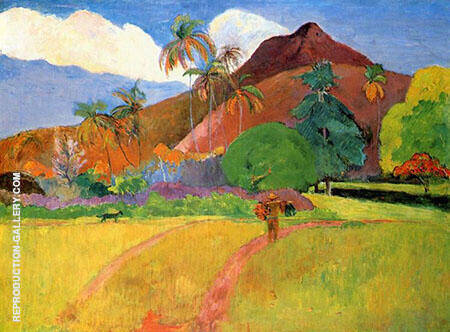 Mountains In Tahiti By Paul Gauguin