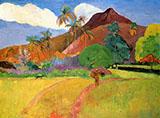 Mountains In Tahiti By Paul Gauguin