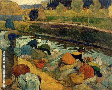 Washer Women 1888 By Paul Gauguin