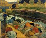Washer Women 1888 By Paul Gauguin