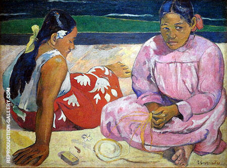 Tahitian Women on the Beach By Paul Gauguin