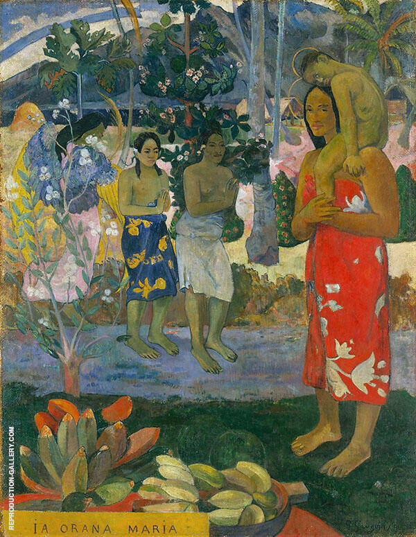 Hail Mary, Ia Orana Maria 1891 Painting By Paul Gauguin