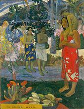Hail Mary, Ia Orana Maria 1891 By Paul Gauguin