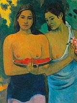 Two Tahitian Women By Paul Gauguin