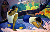 Words of the Devil or Reclining Tahitian Women 1894 By Paul Gauguin