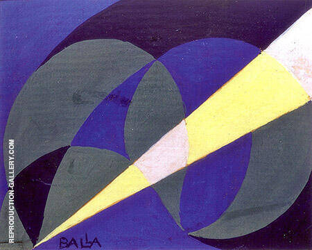 Blinee and Amentali Luce 1918 Painting By Giacomo Balla