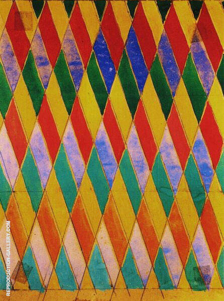 Iridescent Compenetration By Giacomo Balla