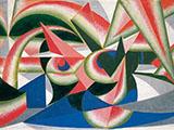 Landscape Forces Watermelon By Giacomo Balla