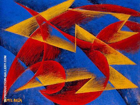 Line of Speed 1913 By Giacomo Balla