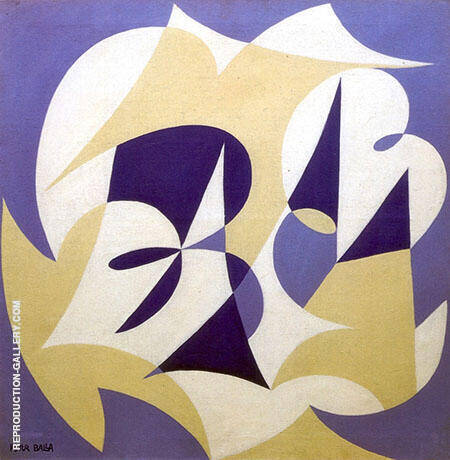 Motivo Con La Parola Painting By Giacomo Balla - Reproduction Gallery