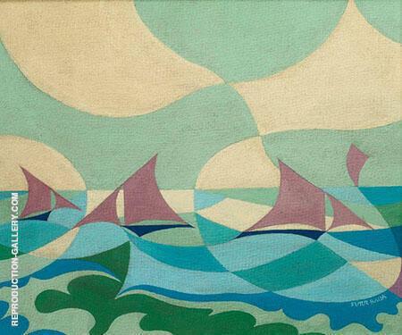 Sea Sails Painting By Giacomo Balla - Reproduction Gallery