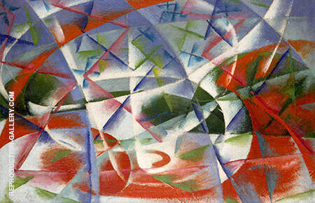 Speed and Sound By Giacomo Balla Replica Paintings on Canvas - Reproduction Gallery