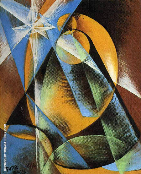 The Planet Mercury Passes The Sun Painting By Giacomo Balla