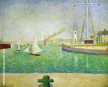 Entrance to the Honfleur By Georges Seurat