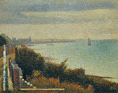 Grandcamp Evening 1885 By Georges Seurat
