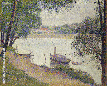 Gray Weather Grande Jatte 1888 By Georges Seurat