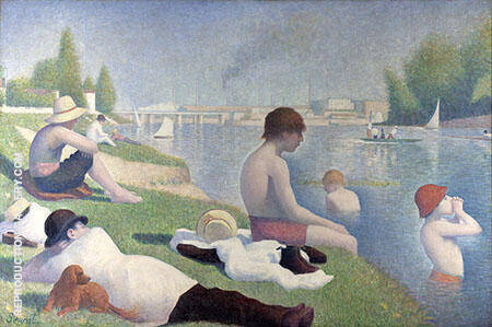 Bathing Asnieres 1884 By Georges Seurat