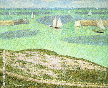 Port En Bessin Entrance to the Harbor 1888 By Georges Seurat