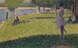 Study for La Grande Jatte 1884 By Georges Seurat