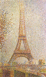 The Eiffel Tower 1889 By Georges Seurat